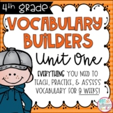 Fourth Grade Vocabulary Builders Unit 1