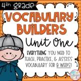 Fourth Grade Vocabulary Builders Unit 1