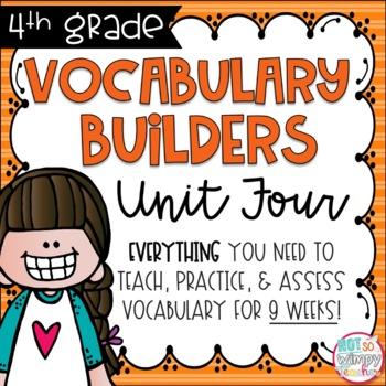 Fourth Grade Vocabulary Builders Unit 4