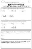 Fourth Grade Weekly Homework Packet, Quarter 4, Week 1
