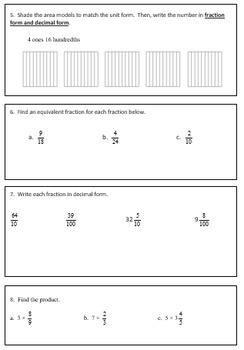 Fourth Grade Weekly Homework Packet, Quarter 4, Week 2