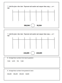 Fourth Grade Weekly Homework Packets Quarter 1 (Based on Eureka Math)