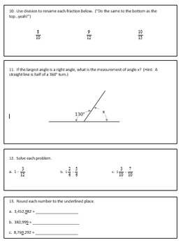 Fourth Grade Weekly Homework Packets Quarter 3