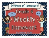 Fourth Grade Weekly Integrated Homework