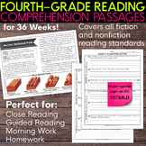 Fourth Grade Weekly Reading Comprehension [Nonfiction and Fiction]