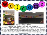 Fourth Grade Welcome/Bienvenidos Banner