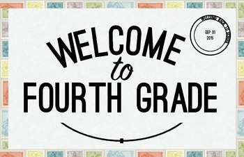 Fourth Grade Welcome Poster