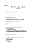 Fourth Grade Wonders U2W1 Practice Test for The Fox and the Goat