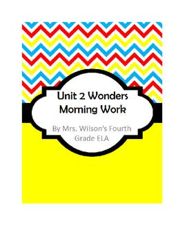 Fourth Grade Wonders Unit 2 Morning Work