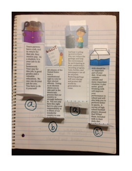 Fourth Grade (4th grade) Reading Wonders Unit 3 Week 5 Interactive Notebook