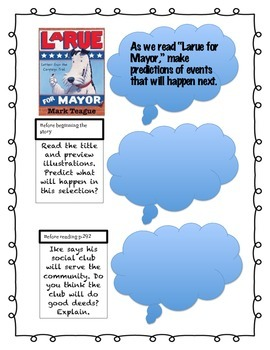 Fourth Grade Reading Wonders Unit 4 Wk 2 Interactive Ntbk (Larue for Mayor)