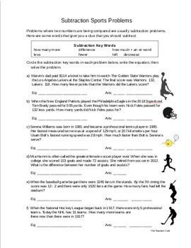 Fourth Grade Word Problem Solving Set
