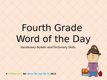 Fourth Grade Word of the Day