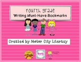 Fourth Grade Writing Bookmarks