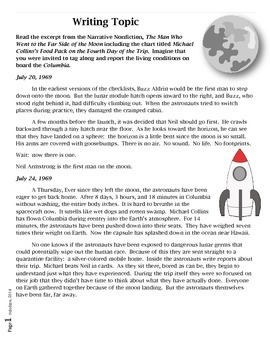 Common Core/PARCC Writing Prompt:  The Man Who Went to the Far Side of the Moon