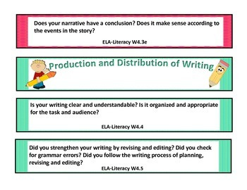 Fourth Grade Writing Reflection Fans (Common Core Aligned-ALL Writing Standards)