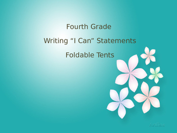 Fourth Grade Writing Standards Foldable Table Tents