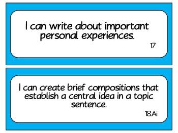 Fourth Grade Writing TEKS~ Solid Blue