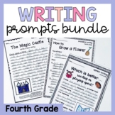 Fourth Grade Writing Worksheets Prompts Bundle - Opinion, Narrative, Procedure