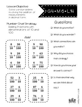 Fourth Grade YEARLONG Math Number Chats Aligned to Engage NY Modules 1-7