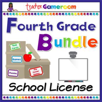 Fourth Grade Powerpoint Game Bundle - School License
