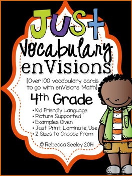 Fourth Grade enVisions: Just Vocabulary