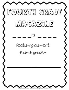 Fourth Grade end of the year Magazine Memory Book
