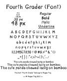 """""""Fourth Grader"""" .TTF (font)"""