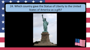 Fourth July (4th July) - Independence Day 32 Question PowerPoint Quiz