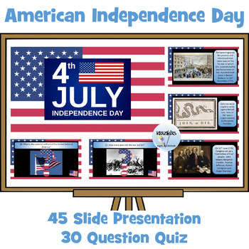 Fourth July - Independence Day - PowerPoint Presentation and Interactive Quiz