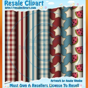Fourth Of July Paper Pack - Commercial Use