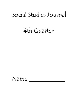 Fourth Quarter Social Studies Journal Second Grade