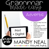 Fourth and Fifth Grade Grammar Activities (Adverbs)