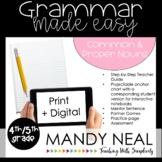 Print + Digital Fourth and Fifth Grade Grammar Activities