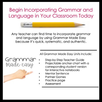 Fourth and Fifth Grade Grammar Activities (Subjects and Predicates)