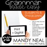 Print + Digital Fourth and Fifth Grade Grammar Activities(