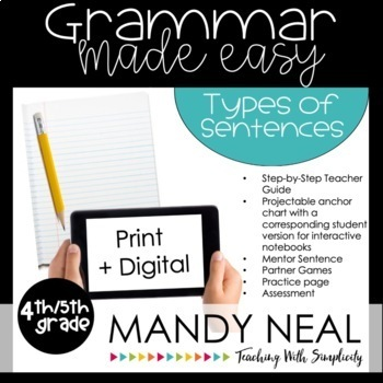 Fourth and Fifth Grade Grammar (Types of Sentences)