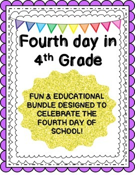 Fourth Day in 4th Grade-Task Cards, Math & Writing Bundle!