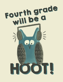 Fourth grade will be a hoot! - Owl Theme Treat Bag Labels - Open House