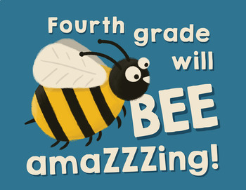 Fourth grade will be amazing! - Goodie bag labels - Back to school - End of year