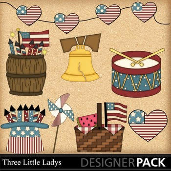Fourth of July 1 ClipArt - Commercial Use