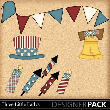 Fourth of July 2 ClipArt - Commercial Use