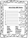 Fourth of July ABC order