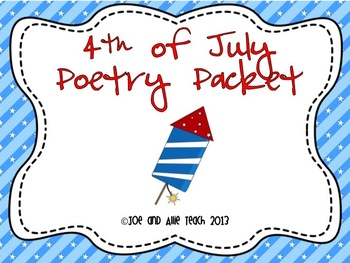 Fourth of July Acrostic Poetry Packet