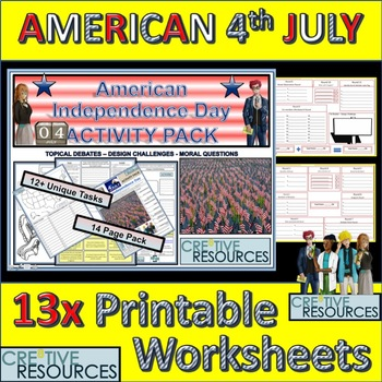 Fourth of July Activity Pack - American Independence Day