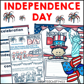 Fourth of July Activity Pack - Posters, Word Walls, Display, Writing & Craft