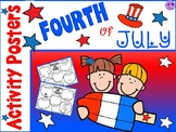 Fourth of July Activity Posters