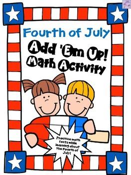 Fourth of July Add 'Em Up! Math Activity