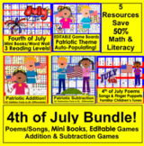 Fourth of July BUNDLE VALUE!  5  Centers for Summer School