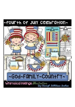 Fourth of July Celebration Clipart Collection